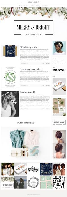 BLOGS | Merry and Bright. Let us build your blog for you! more than just a pretty template