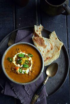 Fragrant Spiced Indian Vegetable and Lentil Soup by fromthekitchen #Soup #Lentil #Indian
