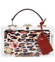 CHARLOTTE OLYMPIA Travel Pandora Box Clutch. #charlotteolympia #bags #leather #clutch #hand bags
