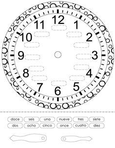time worksheet spanish