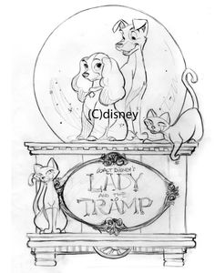 Lady and the Tramp Snowglobe Design, by Steve Thompson