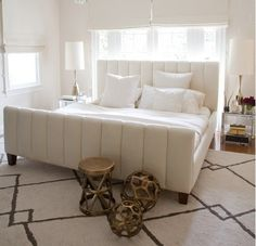 rug & bedroom in white