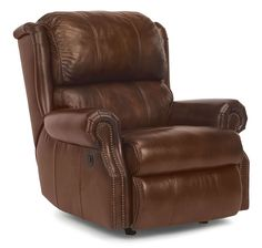 Power recliner by Flexsteel. Available in many leather colors, as well as fabric. Features a High Density Cushion and the Dualflex® Spring System.