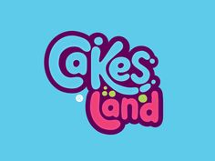 Cakes Land Logo by Nour Ramy logo Cakes Land Logo Cake Logo Design, Food Logo Design, Identity Design, Balloon Logo, Cake Land, Sweet Logo, Candy Logo, Maquillage Halloween, Kids Logo