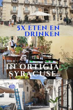 tips voor gezellig dineren in Syracuse Sicilië. Travel Destinations, Travel Tips, Sicily Travel, Cities In Europe, Summer Travel, Traveling By Yourself, Travel Inspiration, City, Heart