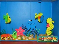 This page has a lot of free Aquarium craft ideas for kids,parents and preschool teachers. Ocean Crafts, Fish Crafts, Diy And Crafts, Crafts For Kids, Arts And Crafts, Paper Crafts, Drawing For Kids, Art For Kids, Aquarium Craft