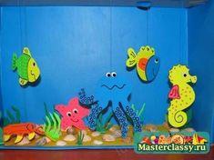 aquarium knutselen met kleuters