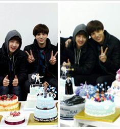 Image in exo couple collection by 키스 on We Heart It Exo Members Birthday, Sehun Birthday, Birthday Cake, Kaisoo, Kyungsoo, Chanyeol, Exo Birthdays, Akdong Musician, Exo Couple