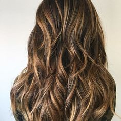 Honey  Hits on a brunette base. Color by @sadieface  #hair #hairenvy #hairstyles #haircolor #brunette #balayage #highlights #newandnow #inspiration #maneinterest