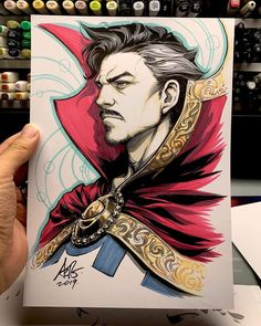 Doctor Strange by Artgerm Marker Kunst, Marker Art, Cartoon Drawings Of People, Disney Drawings, Drawing Disney, Doctor Strange Comic, Doctor Strange Drawing, Strange Art, Comic Books Art
