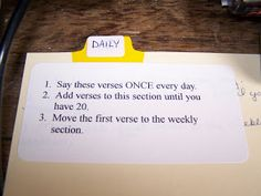 This and That: Scripture Memorization