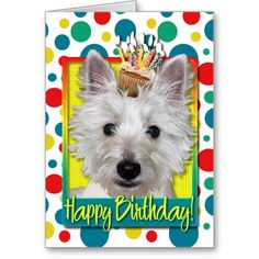 Birthday Cupcake - Westie - Tank Greeting Card Yes I can say you are on right site we just collected best shopping store that haveThis Dealstoday easy to Shops & Purchase Online - transferred directly secure and trusted checkout. Birthday Wishes Cards, Happy Birthday Greeting Card, Card Birthday, Photo Supplies, West Highland Terrier, Birthday Cupcakes, Westies, Custom Greeting Cards, Postcard Size