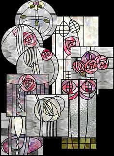 Art Nouveau Charles Rennie Mackintosh, In Fairyland, 1897 Motifs Art Nouveau, Design Art Nouveau, Motif Art Deco, Charles Rennie Mackintosh Designs, Charles Mackintosh, Stained Glass Designs, Stained Glass Art, Stained Glass Patterns, L'art Du Vitrail