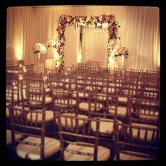 Glowing beauty: an indoor wedding ceremony.