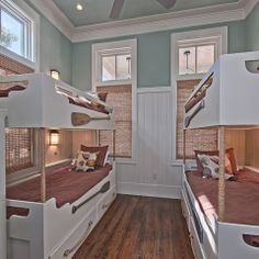 Love the oars and moulding. Bunk beds