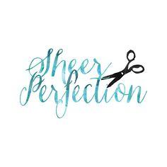 Hair Stylist Logo Design Seamstress Logo by QuietForestDesign