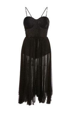 Zaria Bustier Midi Dress by Maria Lucia Hohan