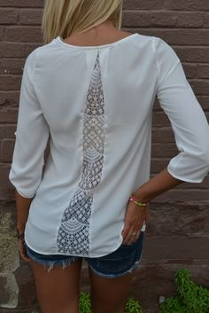 Hacer más ancha una camiseta por la espalda Sewing Accessories, New Outfits, My Wardrobe, Refashion, Decoupage, Tights, Cute, Porady, Sweaters