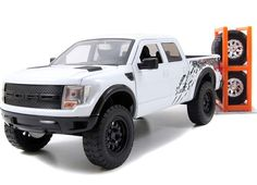 "Ford F-150 SVT Raptor - White (Jada Toys Just Trucks) 1/24 | ""Just Trucks"" Diecast Model No. 54027"