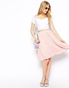 Image 1 ofASOS Midi Skater Skirt