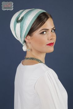 Head Cover , Tichel, Jewish #headcovering, Mitpachat, Beret. Designed by Ayula