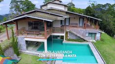 MANSÃO NO ALTO DAS MONTANHAS EM DOMINGOS MARTINS Suites, Luxury Homes, House Styles, Houses, Youtube, Design, Decor, Orange Trees, Gated Community