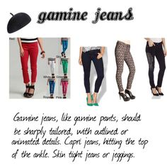 A fashion look from November 2014 featuring denim capri pants, low rise skinny jeans und stretchy jeans. Browse and shop related looks. Fashion And Beauty Tips, Look Fashion, Fashion Outfits, Fashion Women, Gamine Style, Soft Gamine, Gamine Outfits, Audrey Hepburn Style, Low Rise Skinny Jeans