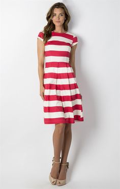 I love the stripes, bright color and the length of this dress.