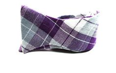 Purple Plaid Freestyle Bow Ties Bow Tie Mens Bow by tuxandtulle, $26.00