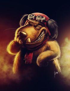 Patan /Muttley by Zeablast on DeviantArt Old School Cartoons, Old Cartoons, Classic Cartoon Characters, Classic Cartoons, Cartoon Sketches, Cartoon Art, Personnages Looney Tunes, Desenhos Hanna Barbera, Realistic Cartoons