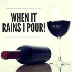 look..! it must be raining!