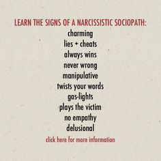 There's more signs and very specific examples that can be shared on other media outlets, to relative individuals, and appropriate organizations. Sociopath Traits, Narcissistic Sociopath, Emotional Abuse, Reality Quotes, Your Word, Psychology, Wisdom, Thoughts, Psicologia