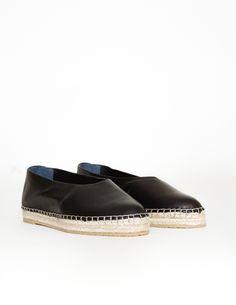 Loeffler Randall manon leather slip-on espadrilles at Bird : ShopBird.com