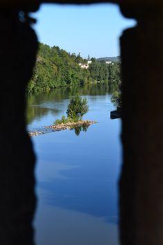 vue des créneaux du pont Valentré sur le Lot