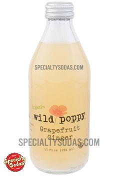 Wild Poppy Organic Grapefruit Ginger 10oz Glass Bottle