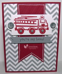Stampin' Up!, You're My Hero, Fire Truck, Kids