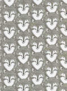 Foxes in Grey, Magic Forest Collection by Sarah Watts for Cotton & Steel ~ Animal Fabric ~ Weave and Woven by WeaveandWoven on Etsy