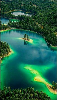 Horseshoe Lake near Libby, Montana