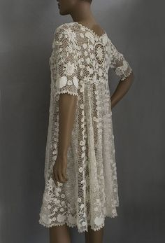 Art Irish crochet lace coat or dress, c.1920s  A thing of great beauty. they-don-t-make-em-like-they-used-to