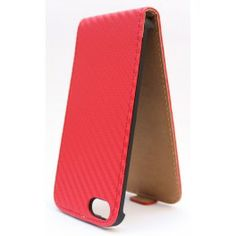 Apple iPhone 5 punainen läppäkotelo.