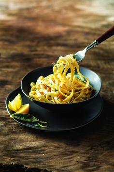 This quick fall pasta dish could hardly be easier! A simple sauce of butter, sage, lemon and parmesan–and you're in business. A pasta dinner in minutes!