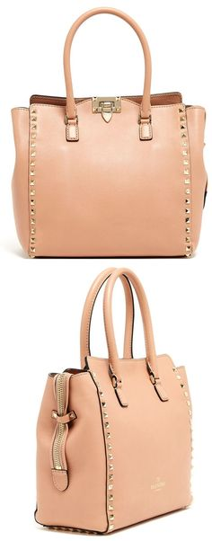 VALENTINO                                                                                                    Studded Tote                                                                                                 ✤HAND'me.the'BAG✤