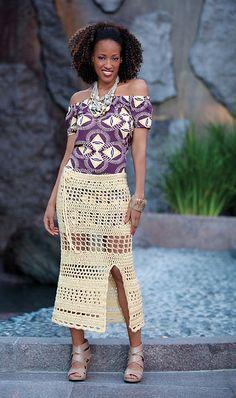 free crochet skirt pattern via 20 Popular Free #Crochet Skirt Patterns for Women