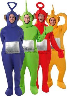 Teletubbies 4 Pack Costumes. Tinky Winky, Dipsy, Laa-Laa & Po