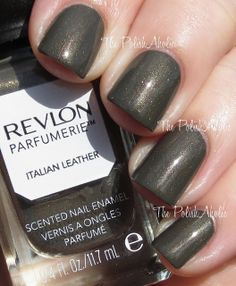 Revlon Parfumerie - Italian Leather  Smells sexy and beautiful, and applies like a higher end polish! Awesome sauce.
