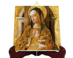 Catholic Prayers, Catholic Gifts, Religious Gifts, Catholic Art, St Raphael, Tile Murals, Madonna And Child, Medieval Art, Sacred Art