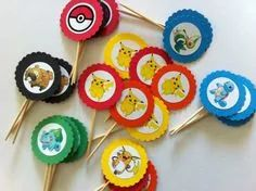 Pokemon Cupcake toppers