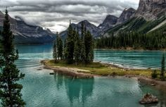 Spirit Island Jaspar National Park Alberta Canada