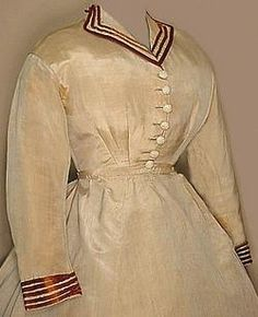 1860s travel ensemble, The bodice I do like it is not often you see that kind of collar