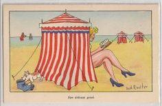 Dick Meester, op het strand